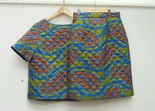 J W Anderson Topshop quilted skirt and top set size 10