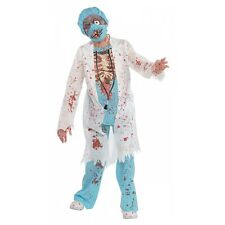 Zombie Doctor Costume Kids Scary Halloween Fancy Dress