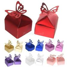 50PCS Laser Cut Butterfly Sweet Candy Gift Boxes for Wedding Party Favor Box