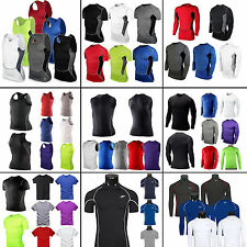 Mens COMPRESSION Under Base Layer Top Tights Under Skin T-Shirts Gear Collection