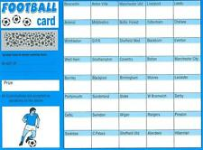 2 FOOTBALL SCRATCH & MATCH CARDS 40 TEAMS NAMES NAMED FUNDRAISING CHARITY EVENT