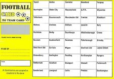 10 FOOTBALL SCRATCH & MATCH CARD 50 TEAMS NAMES NAMED FUNDRAISING CHARITY EVENT