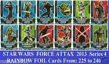Choose STAR WARS FORCE ATTAX 2013 Force Master Series 4 Topps RAINBOW FOIL Cards