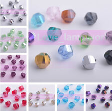 Wholesale 8mm Charms Twist Helix Faceted Crystal Glass Loose Spacer Beads 20pcs