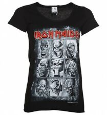 Women's Black Iron Maiden Nine Eddies T-Shirt from Amplified