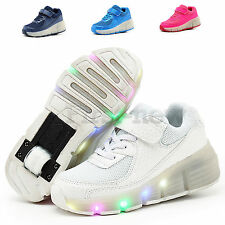 Unisex Girls Boys Shoes With Wheels Retractable Kids Roller Skate Shoes Sneakers