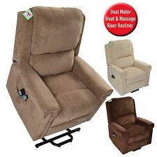 CHATSWORTH ELECTRIC FABRIC DUAL MOTOR MASSAGE HEAT RISER RECLINER LIFT CHAIR