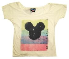 Mickey Mouse Painted Junk Food Womens Soft Juniors T-Shirt Tee