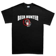 Beer Hunter Funny Mens Drinking Glass Mug T shirt Tee Top T-shirt