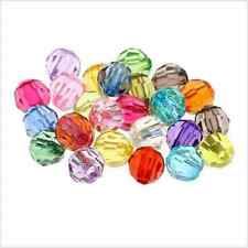 100/500PCs Mixed Acrylic Faceted Round Spacer Beads For Jewelry Making 6mm NEW