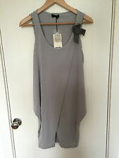 NEW JAMES LAKELAND LADIES PEARL(GREY) BOW SHOULDER SHIFT DRESS UK8/10/12 £142
