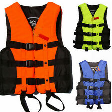 Polyester Adult Life Jacket Universal Floating Swimming Boating Ski Vest+Whistle