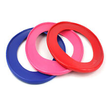 BRIGHT COLOU OUTDOOR FLYING PLAY RING DOG PET PUPPY FLYING FETCH FRISBEE TOY