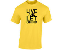 Live And Let Grind Poker Mens Funny Cards T-Shirt (12 Colours)