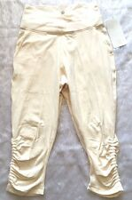 *NWT Lululemon Sunset Salutation Crop Luon Capri Pants Ivory Angel Wing 2 6 8