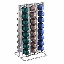 NESPRESSO COFFEE CAPSULE POD TOWER STAND HOLDER REVOLVING RACK STAND