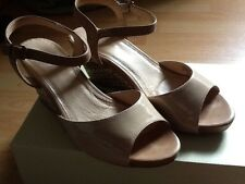 Ladies Next Nude Wedge Shoes Size 5 38