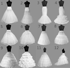 UK BRIDAL WEDDING DRESS PROM PETTICOAT HOOPS UNDERSKIRT CRINOLINE LARGE WAIST