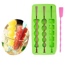 Silicone Skewer Ice Cube Stick Popsicle Chocolate Lollipop Lolly Mold Mould Make