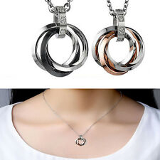 Charm Fashion Jewelry Couple Pendants Titanium steel Romantic Lovers Necklace