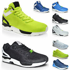 New Mens Walking Sports Running Jogging Gym Fitness Hi Top Trainers Shoes Size