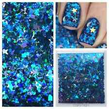 Star Moon Glitter Mix, Solvent Resistant, Holographic | For Acrylic Gel & Polish