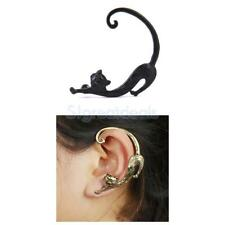1pcs Unique Cool Punk Gothic Alloy Tail Cat Cuff Earring Ear Stud Black Brass