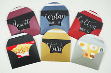 Iridescent Mini Gift Card Envelopes (50 Pack) - Perfect For Gift Cards, Weddings