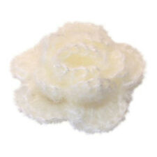 5X(Sunny 10pcs 3-layer Handmade Crochet Flower Appliques Sewing (White)) L3
