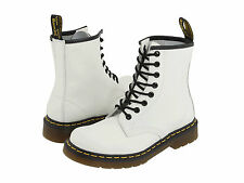 New Womens Dr. Doc Martens 1460 W White Air Wair Bouncing Soles Boots MSRP $125