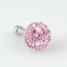 Pink Crystal 3.5mm Earphone Ear p Anti Dust Plug Dock for iPhone 5G 3G 4 4S L3