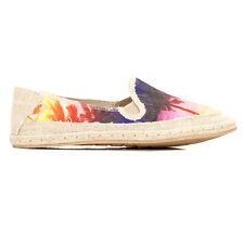 Rocket Dog Womens Casual Shoes Multi Natural Wheelie Canvas Slip On Flats