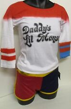 "HARLEY QUINN ""DADDY'S LIL MONSTER"" DIP DYED COSPLAY TEE DC COMICS SUICIDE SQUAD"