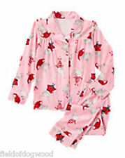 NWT GYMBOREE OLIVIA OLIVIA FLEECE 2-PC PAJAMAS 5 6 7 8 10 12 Button Down Girls