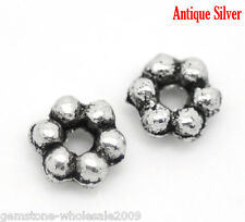 Wholesale Lots W09 Silver Tone Daisy Spacer Beads 3mm Dia.Wholesale