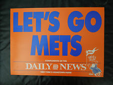 5 VINTAGE - LETS GO METS - NEW YORK DAILY NEWS - BILL GALLO PANELS BIG 17 X 12