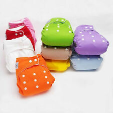 Reusable Baby Infant Adjustable Cloth Nappy Soft Cotton Diaper Cover Washable