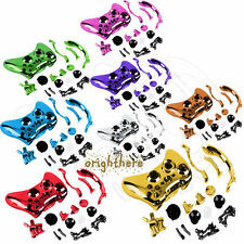 Chrome Plated Housing Case Shell Button Kit For Xbox 360 Wireless Controller GS