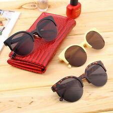 Retro Black Lens Vintage Men Women Round Frame Sunglasses Glasses Eyewear GS