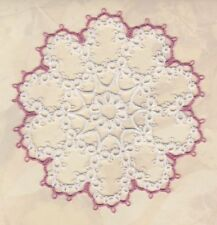 """CUSTOM tatted doily, 4"""" approx tatting STARLET, MOTHER's DAY"""