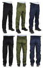 "Men Plain Big Size Work/Casual Cargo Combat Trousers Size 28-62 Leg 29.5"" 31.5"""