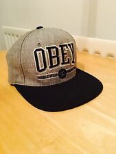 Obey SnapBack - Genuine Obey Cap / Hat - Grey