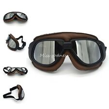 Cool Vintage Harley Style Motorcycle Helmet Goggles Scooter Glasses