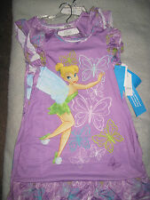 Disney Store Tinkerbell Tinker Bell Nightgown Nightshirt PURPLE Extra SMALL XS S