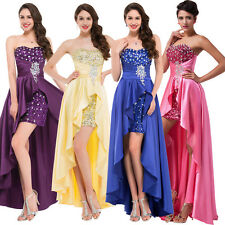 Sexy High Low Evening Dresses Ladies Formal Cocktail Prom Party Ball Gowns