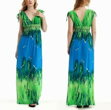 Plus Size M-6XL US 8-24 Sexy Woman Summer V Neck Long Maxi Dress