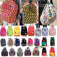 NEW Womens Book Bags Backpack Canvas Rucksack Travel Satchel School Shoulder Bag