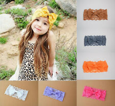 Infant Kids Girl Baby Headband Toddler Lace Bow Flower Hair Band Headwear