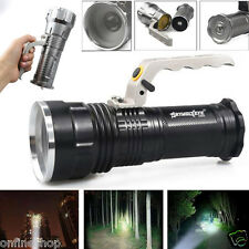 CREE XM-L 4000LM Rechargeable Police Tactical LED Flashlight Torch Handheld Lamp