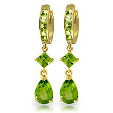 5.62 Carat 14K Solid Gold Temptation Peridot Earrings